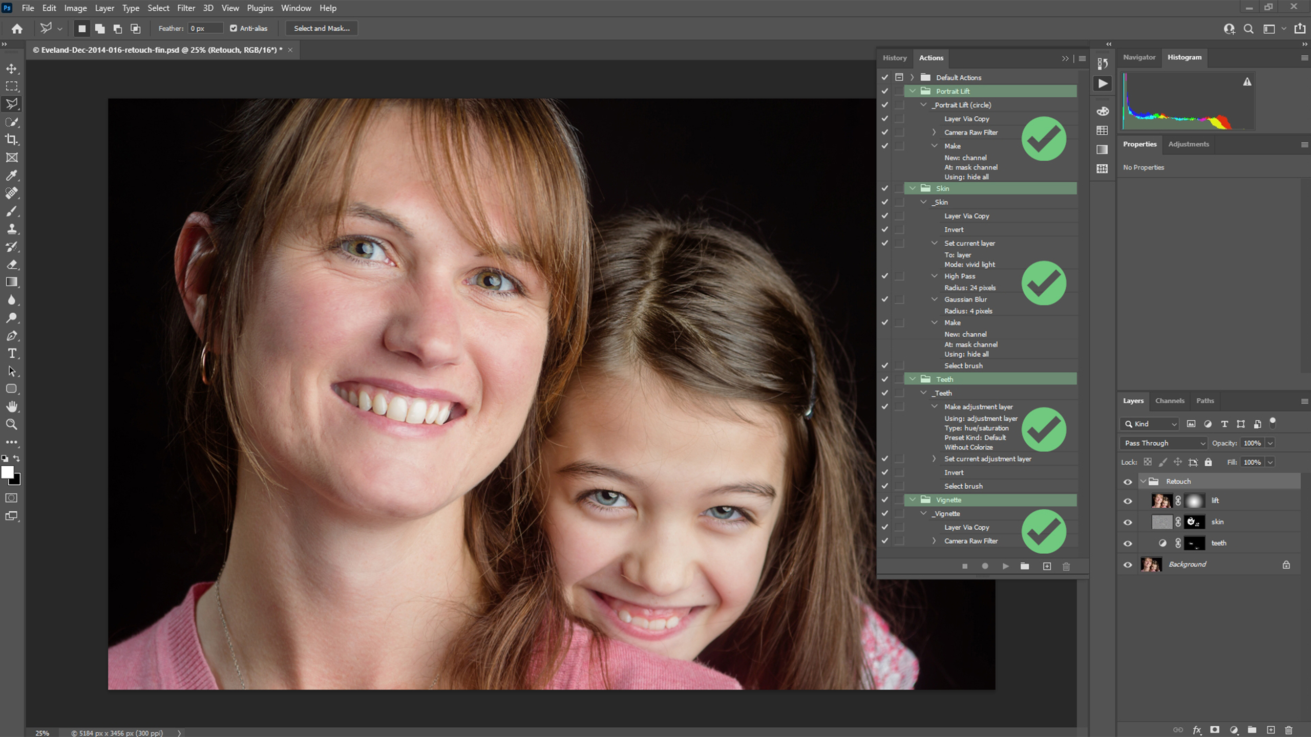 Four Photoshop Actions to fast-track your portrait workflow