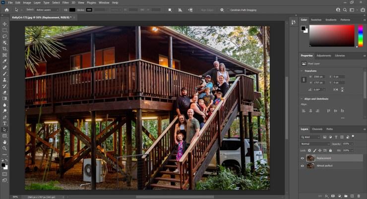 Screenshot Photoshop two photo layers