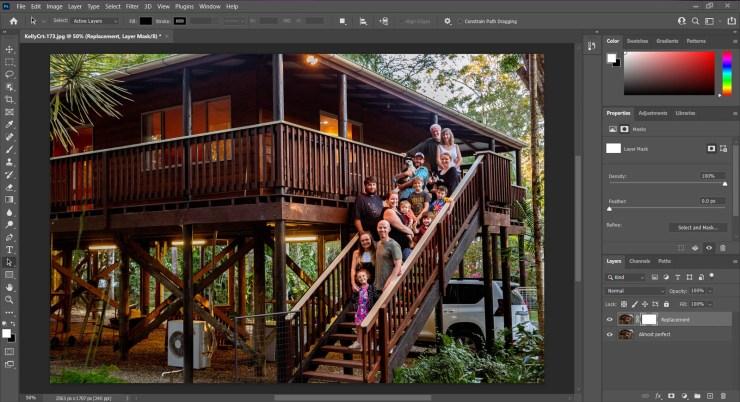 Screenshot Photoshop layer mask