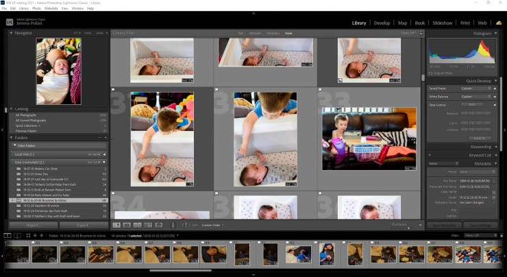 Screenshot Adobe Lightroom Classic