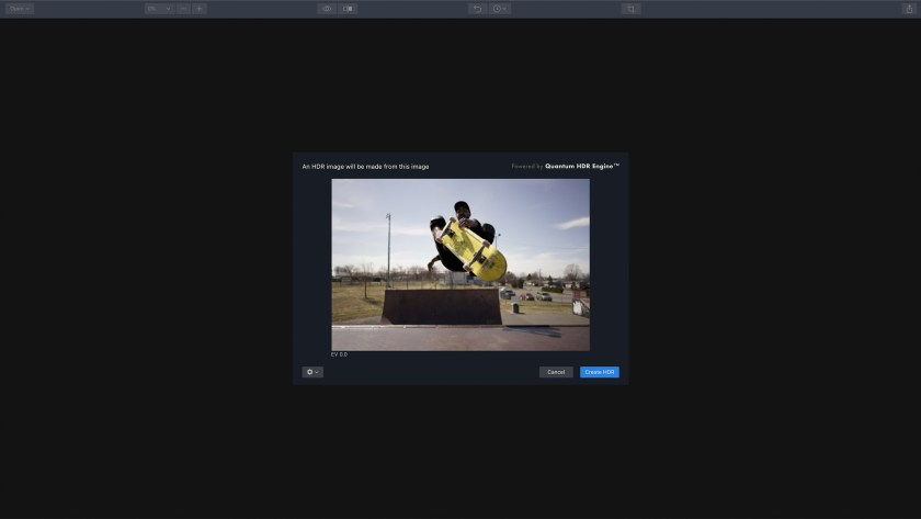 Single image HDR editing Aurora