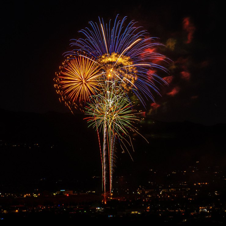 olympus Mark III fireworks photo