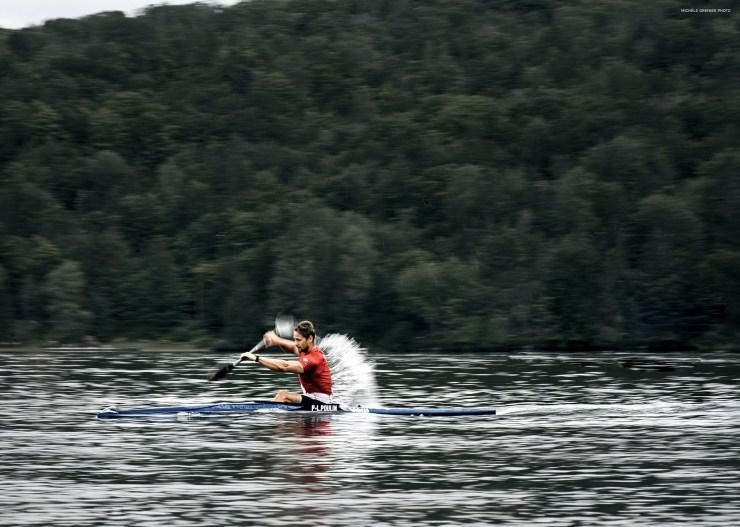 Kayak athlete in action