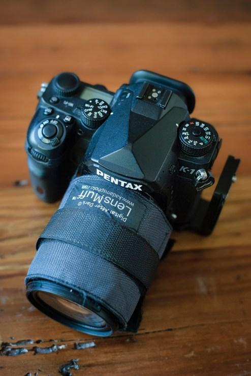 LensMuff on a 28-105mm Pentax lens.