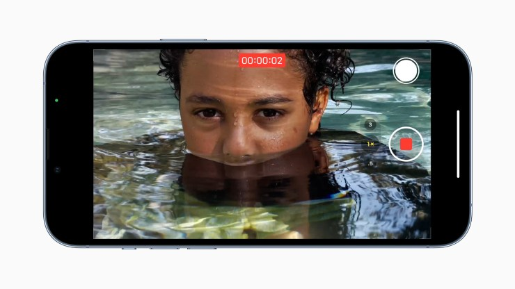 Recording video on iPhone 13