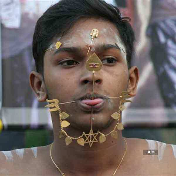 Tongue Piercing In Certain Festivals Of India There Is A
