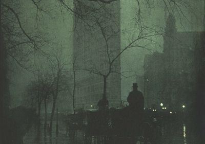 Edward Steichen, The Flatiron – Evening – 1904 – publié en 1906 dans la revue Camera Work XIV – photogravure