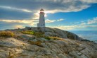Peggys Cove Lighthouse by Jim Woodring