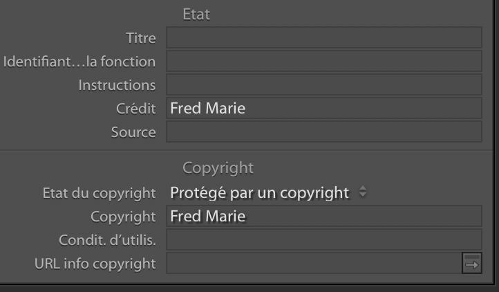 copyright lightroom iptc