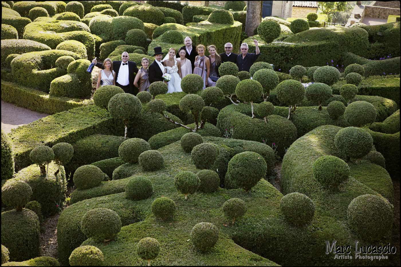 groupe mariage photographie de haut