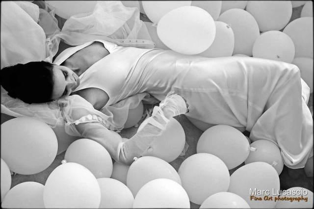 mariée au ballon