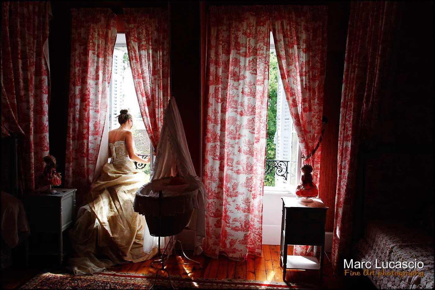 Préparation mariage chambre rose