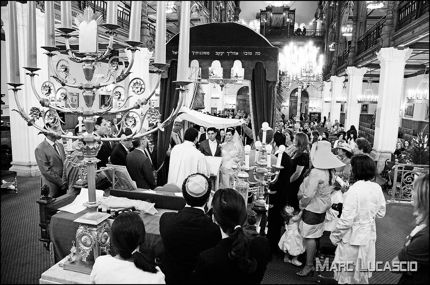 Synagogue photographe mariage juif