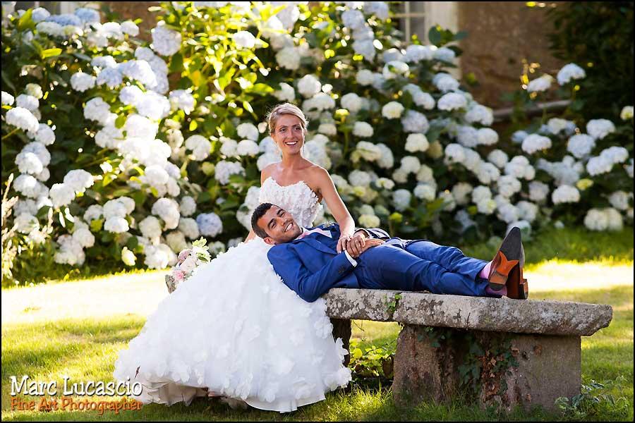 couple jardin photo mariage