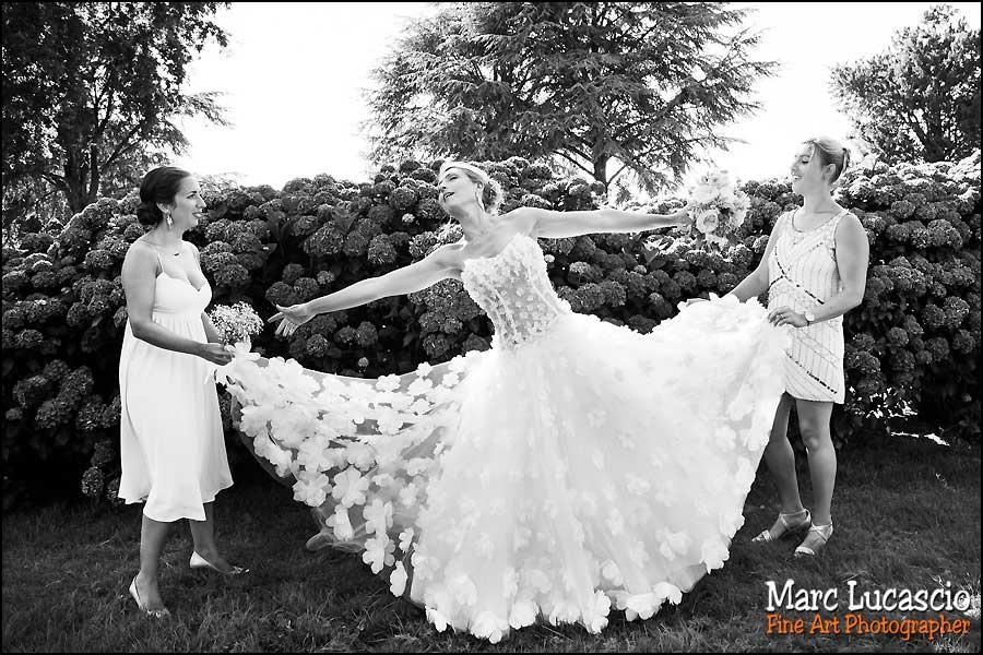 La mariée et ses témoins filles