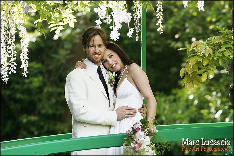photographe mariage giverny pont japonais