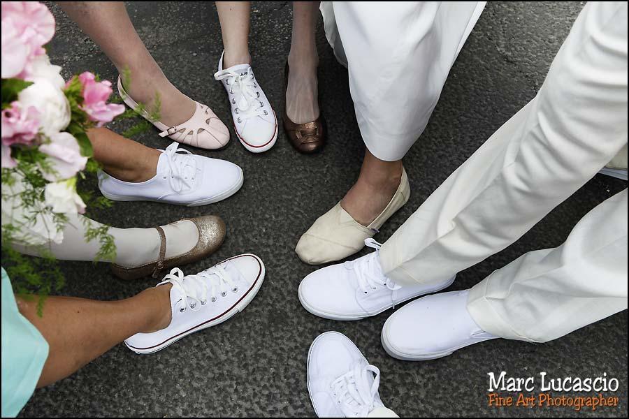 Les baskets sont le dress code du mariage