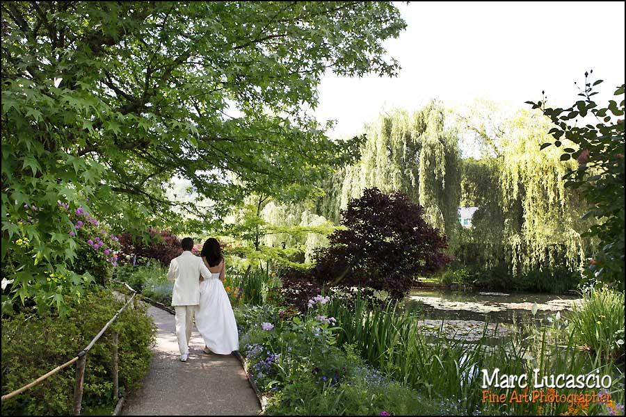 Photo mariage jardin de Giverny