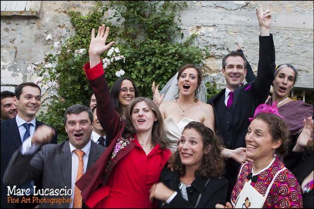 photos avec les témoins du mariage juif