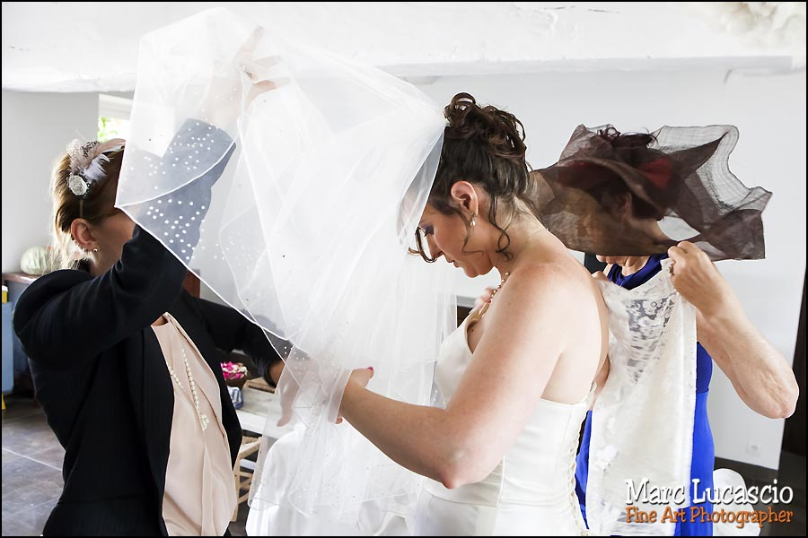 Préparation du mariage juif au Domaine de Quincampoix