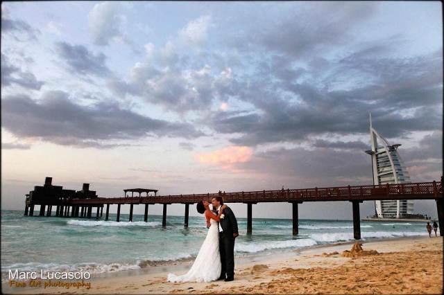 Mariage sur la plage de Burj al Arab à Dubaï