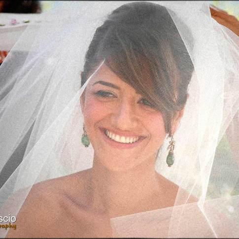 photo de la mariée sous son voile