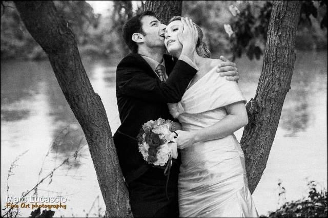 L'amour est present sur tout le reportage de ce mariage