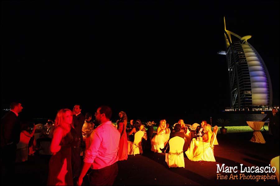Burj al Arab mariage Dubaï dîner