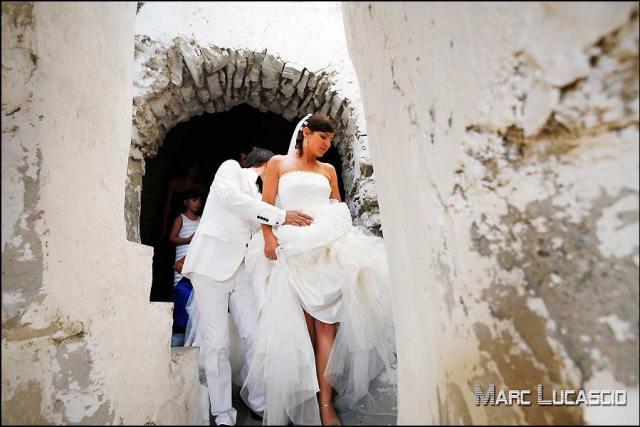 Les petites ruelles du mariage italien.