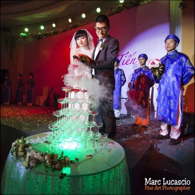mariage Vietnam champagne