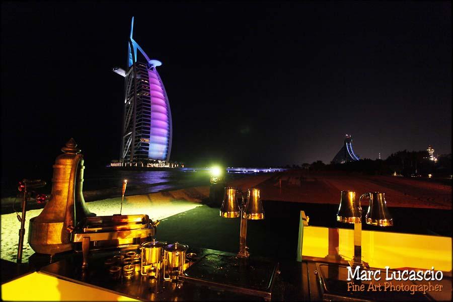 Burj Al Arab et Jumeirah cocktail mariage dubaï.