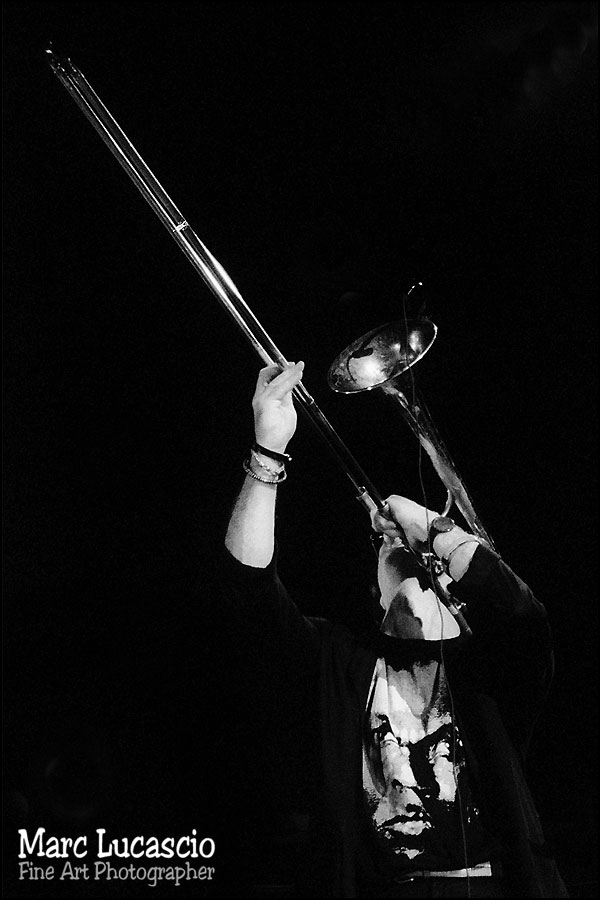 Joueur de trombone photographie argentique