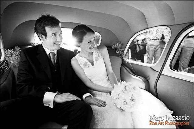 voiture mariage château de Neuville