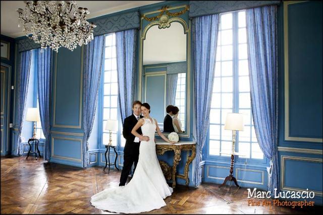 Salon bleu château de Neuville