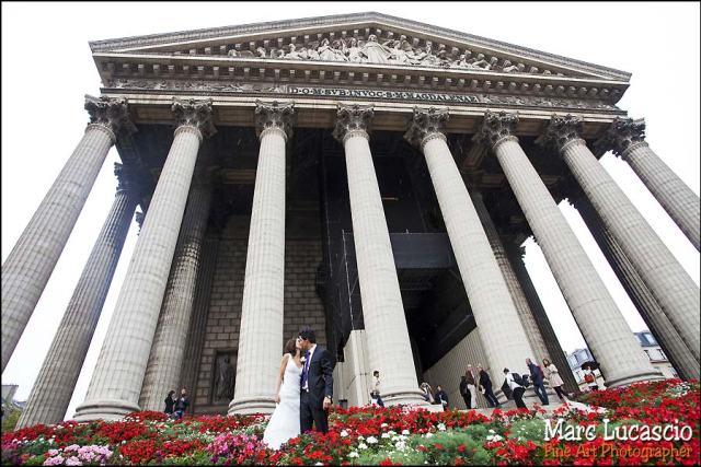 Photo mariage église de la Madeleine à Paris