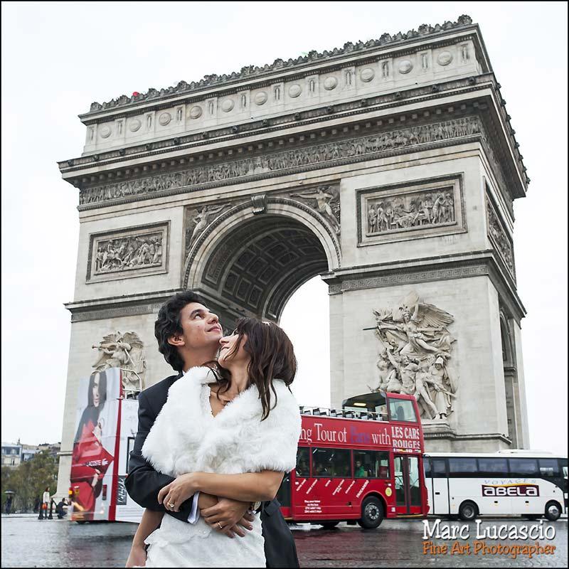 photographe mariage Paris Arc de Triomphe