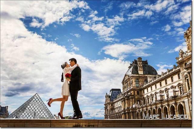 Engagement à Paris au Louvre