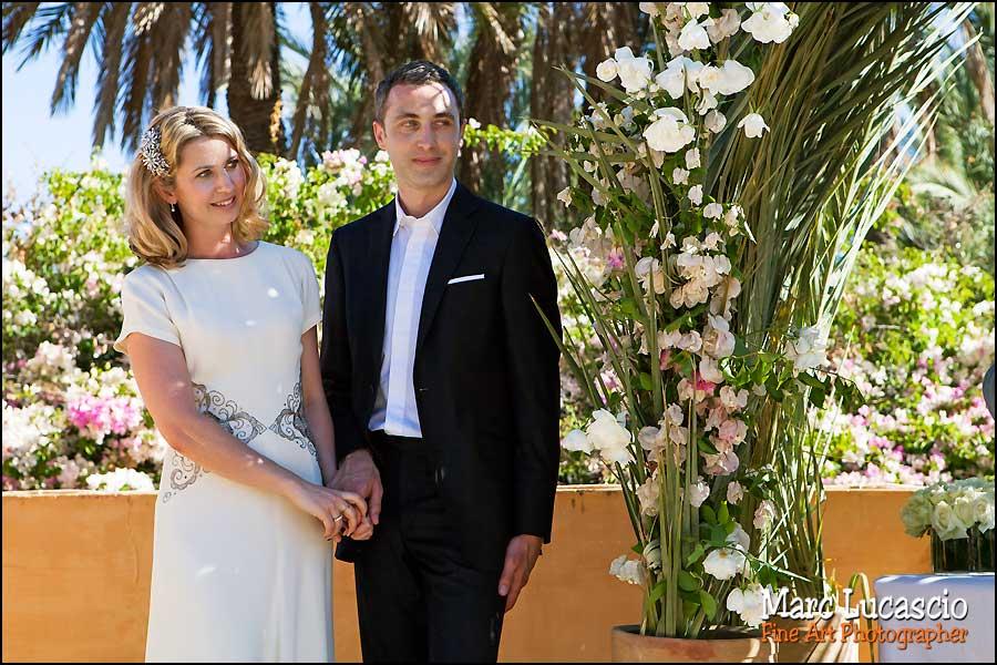 cérémonie laïque Marrakech à Jnane Tamsna