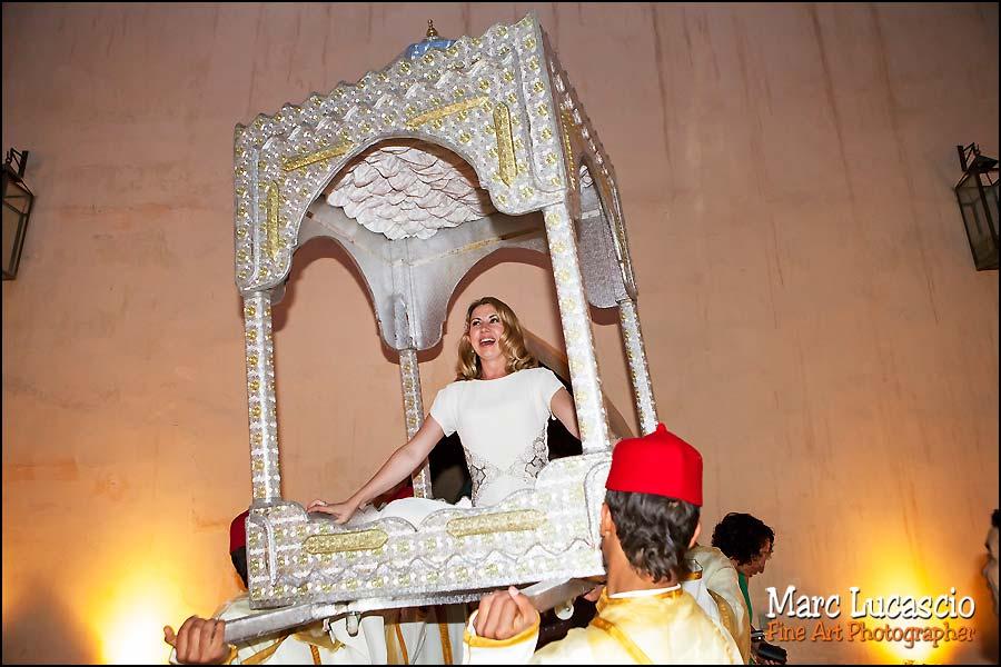 Amaria chaise porteurs mariage Marrakech