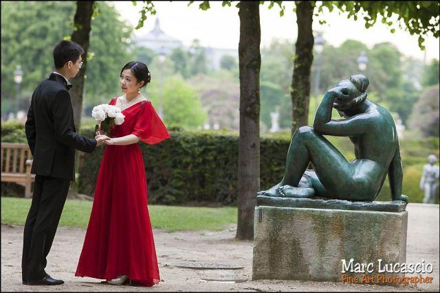couple jardin du louvre sculpture de Rodin