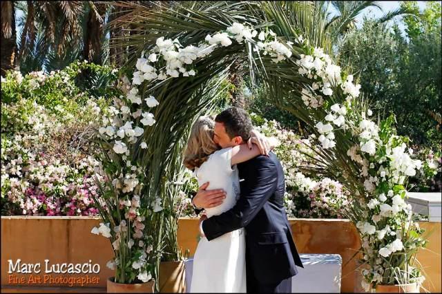 Terrasse villa Jnane Tamsna formidable mariage Marrakech