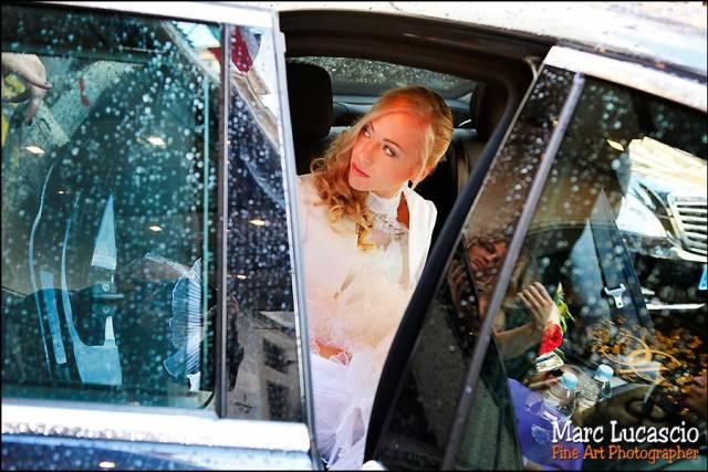 Oratoire du Louvre à Paris La mariée monte dans la voiture
