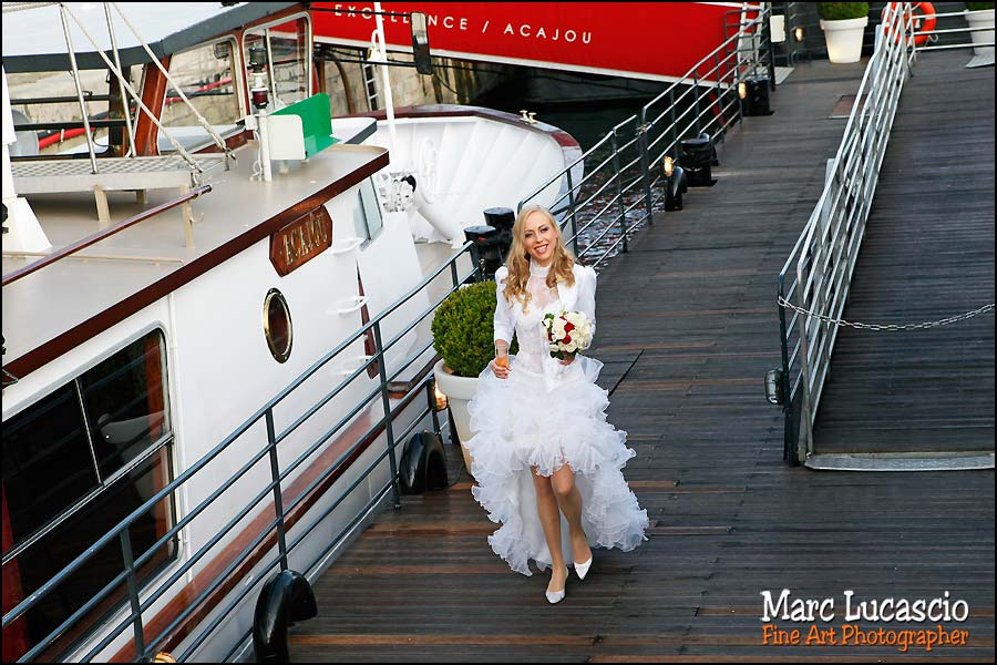photo mariage péniche paris