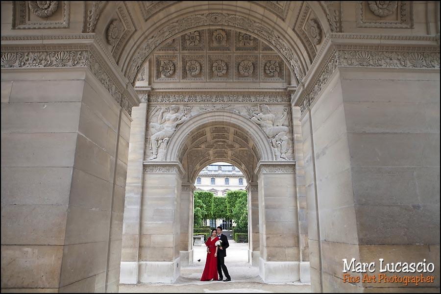 Photos de couple de Chinois à Paris