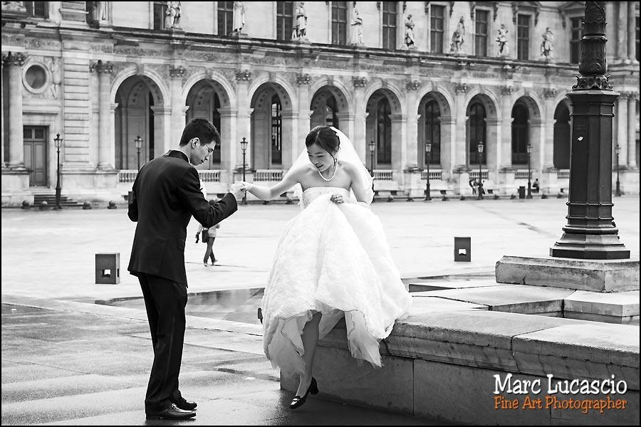 photo le Louvre musée et mariage