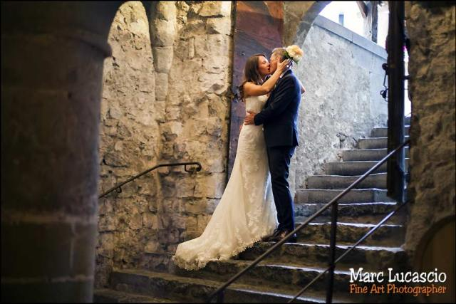 mariage couple chai château chillon