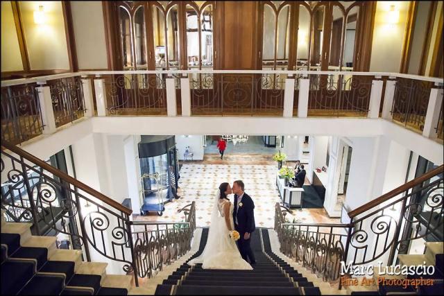 mariage Montreux escalier Fairmont le Montreux palace