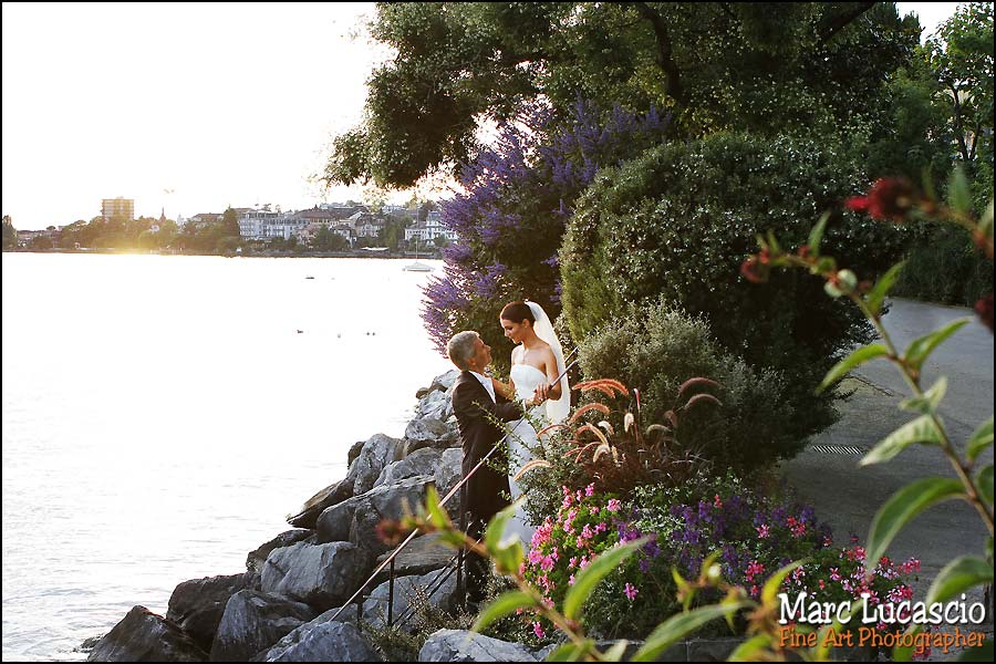 photo mariage Montreux lac de Genevève