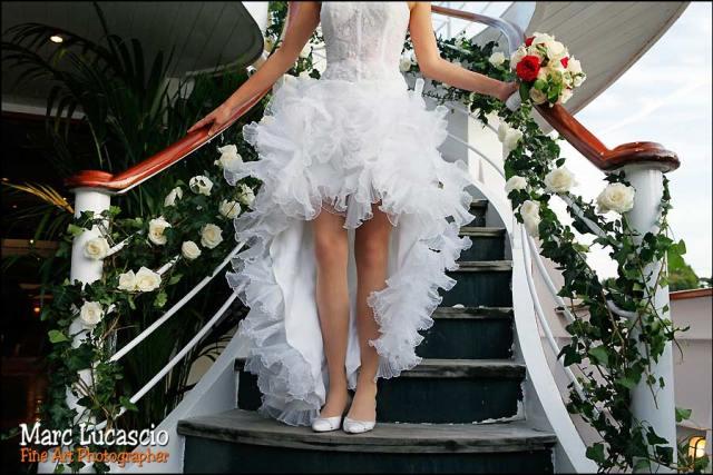 La mariée ponton péniche mariage