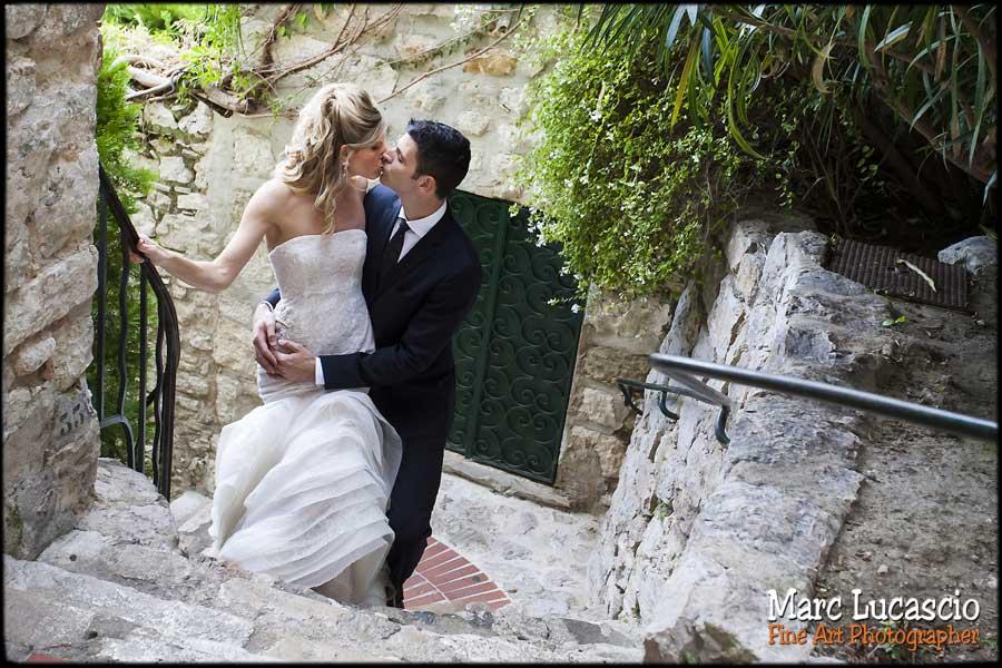 photo mariage portrait couple eze